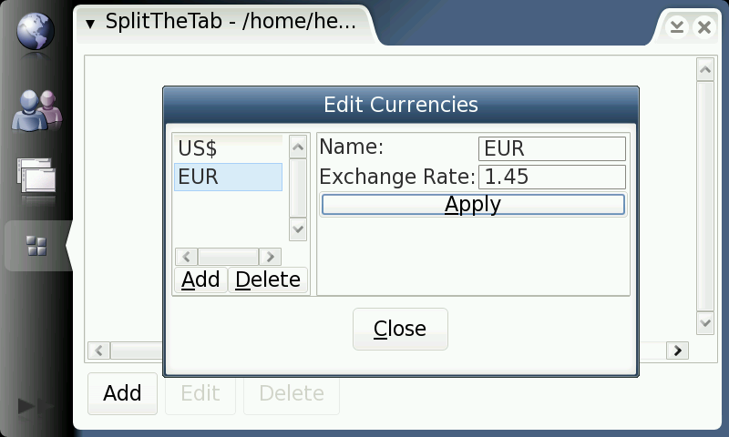 Currency Editor